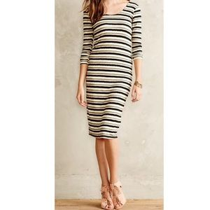 Anthropologie Sz M Striped Midi Dress by Dolan